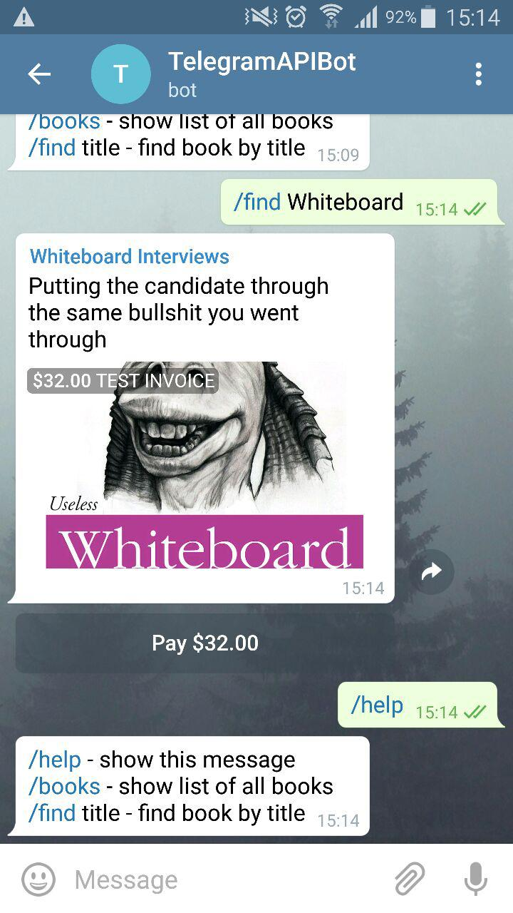 Telegram Client - Find and Help